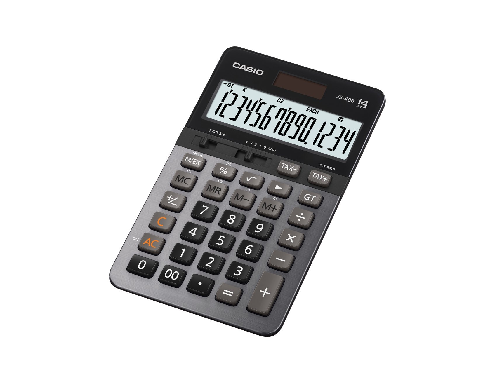 Casio JS-40B 14-Digit Calculator GT Dual Power / Office Desktop Accounting Financial by Casio