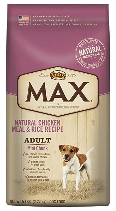 Amazon nutro max adult recipe with farm raised chicken mini amazon nutro max adult recipe with farm raised chicken mini chunk dry dog food pet supplies forumfinder Image collections