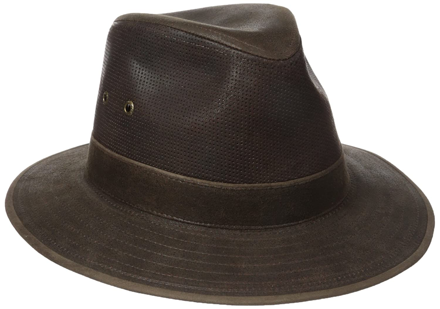900d09f69 Stetson Men's Weathered Leather Safari Hat