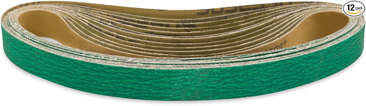 1 X 30 Inch Sanding Belts Zirconia Cloth Sander Belts 12 Pack, 24 Grit
