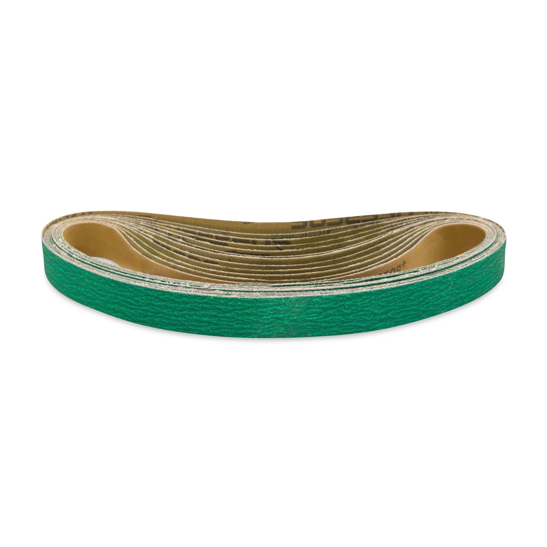 1 X 30 Inch 40 Grit Metal Grinding Zirconia Sanding Belts, 12 Pack
