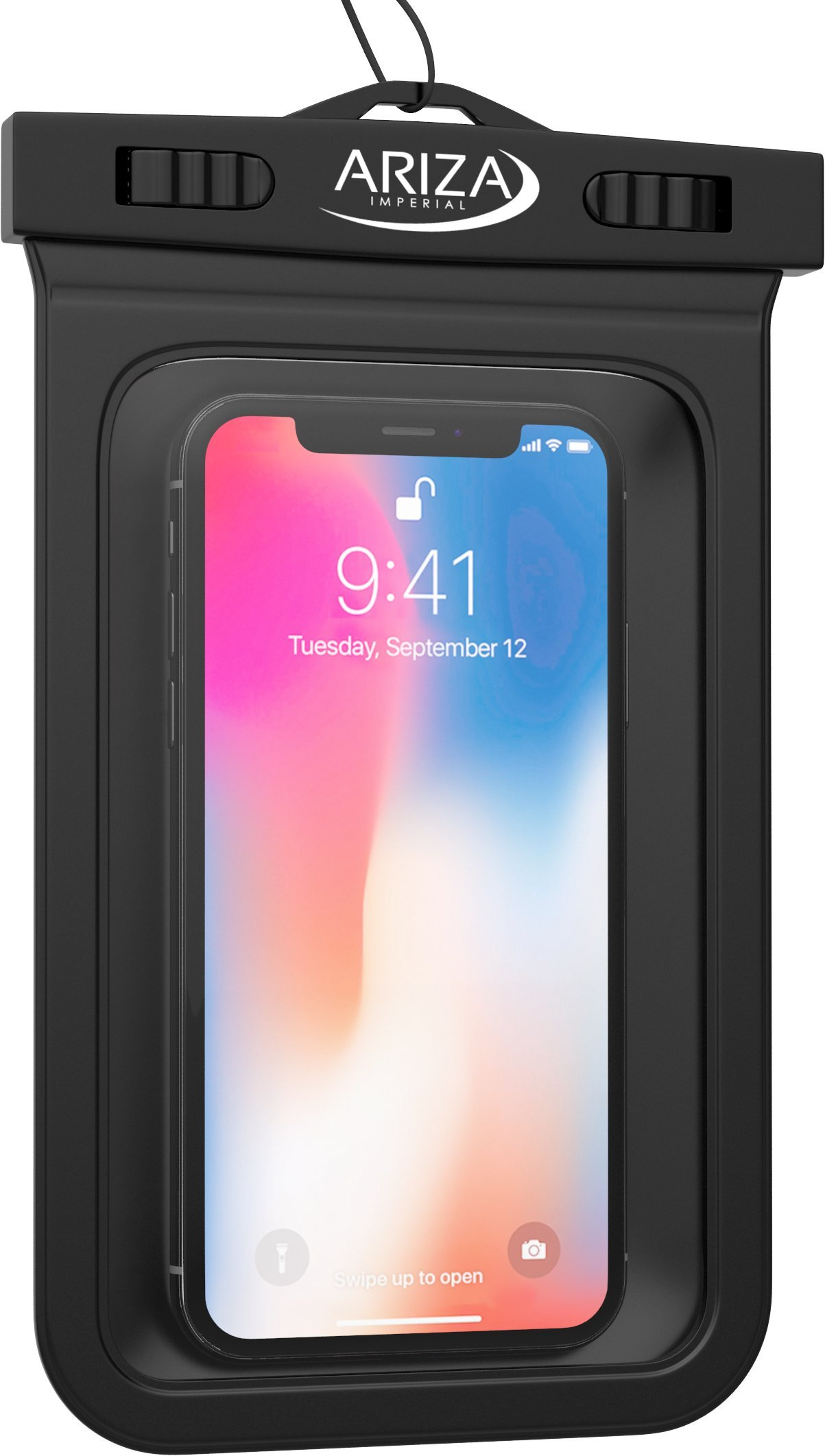 3 Pack Universal Waterproof Pouch Case with Lanyard Strap for iPhone X, 8/7/7 Plus/6S/6/6S Plus, Samsung Galaxy S9/S9 Plus/S8/S8 Plus/Note 8 6 5 4, Google Pixel 2 HTC by Ariza (Image #6)