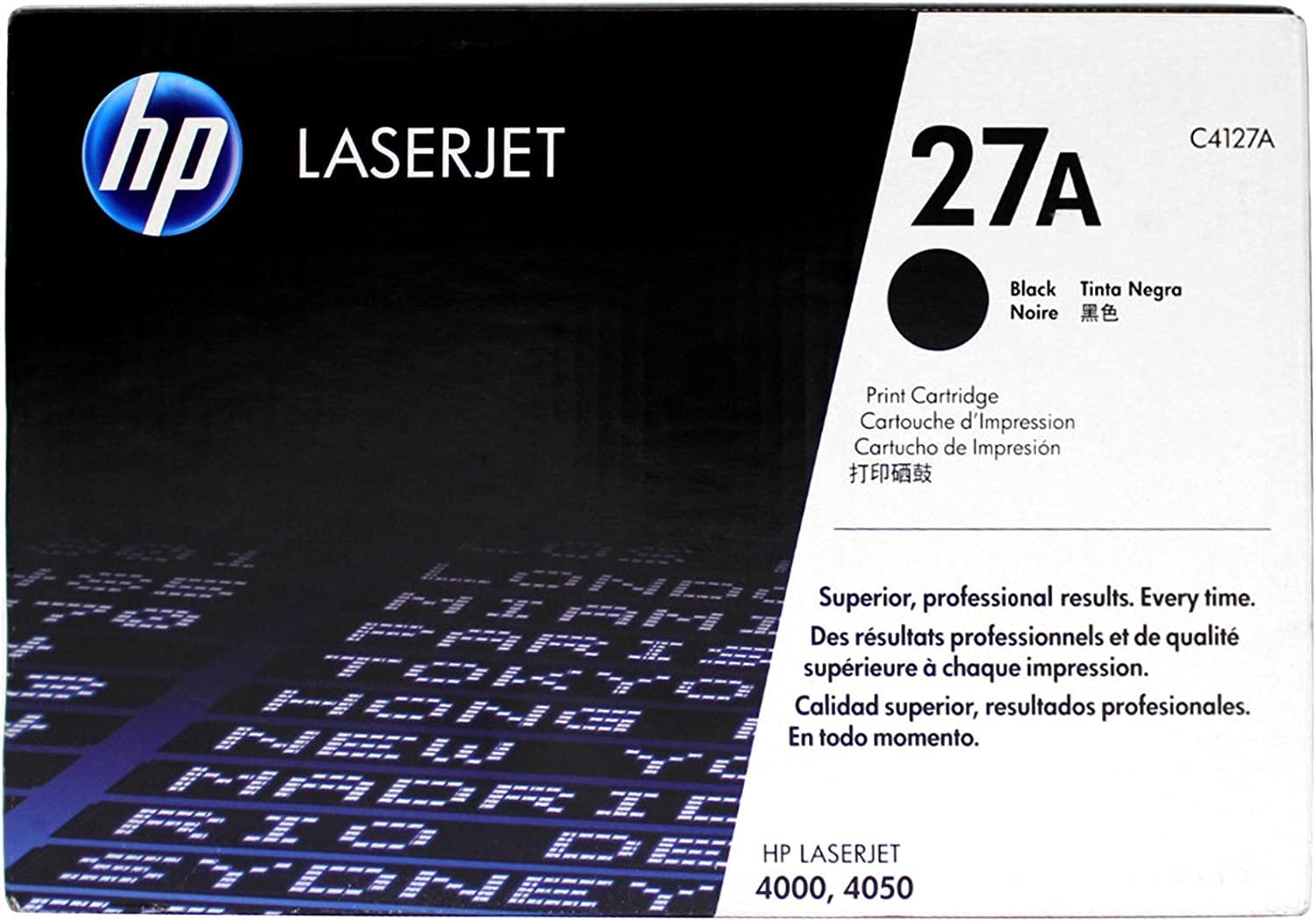 Genuine HP C4127A (27A) Toner Cartridge for Laserjet 4000, Laserjet 4050 Series