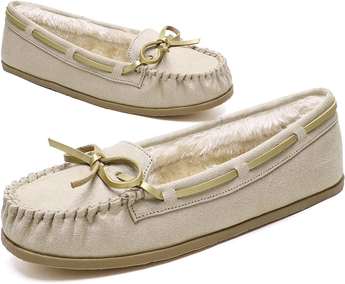 KOLILI NEW before selling Womens Faux Fur Moccasin Warm Indoor Slippers Super special price Outdoor