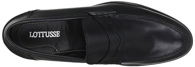 Lottusse L6386 - Mocasines de cuero hombre, color negro, talla 40 (6.5 UK): Amazon.es: Zapatos y complementos