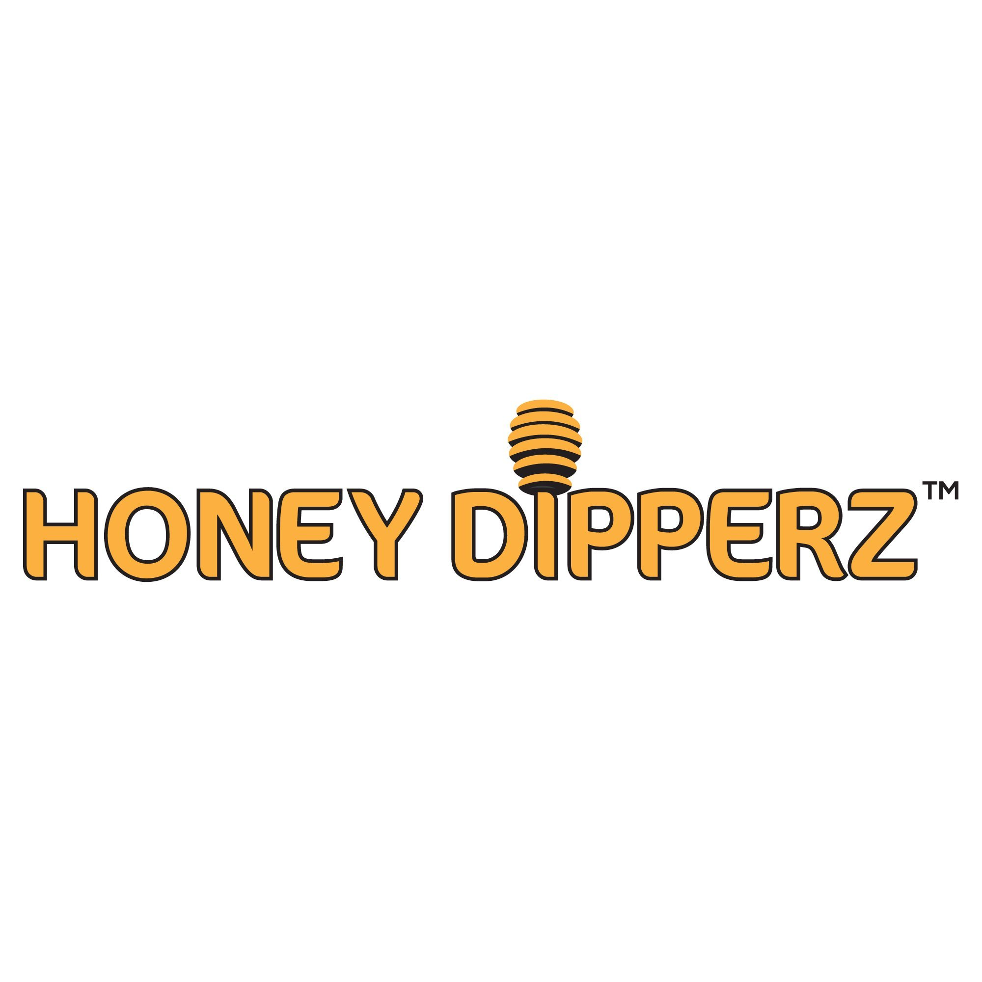 Honey Dipperz 24 PACK - 6'' Inches Long (16cm) Wooden Honey Dipper Drizzler Stirring Stick, Spoon Rod Muddler Dispense, Bulk Lot