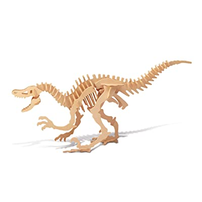 Puzzled 1211 Velociraptor Dinosaur 3D Woodcraft Construction Kit: Toys & Games [5Bkhe0704921]