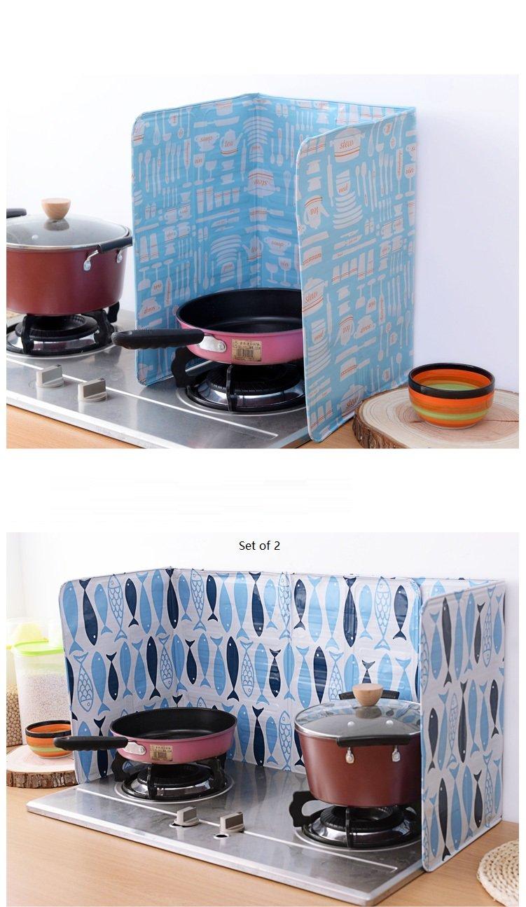 Amazon.com: Aluminum Foil Nonstick Splatter Shield Guard 84*39cm (A ...