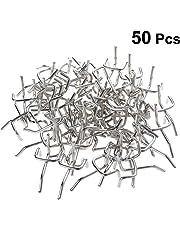 Yardwe Ganci in Metallo per Pannello Forato Lunghezza Pegboard Ganci Espositori Store Scaffali Peg 50PCS (Argento)
