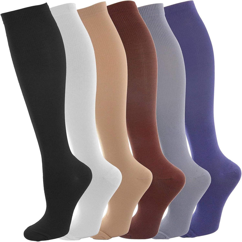 NOVAYARD Compression Socks for Men & Women Graduated 15-20 mmHg (6 Pairs)