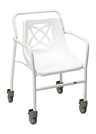 homecraft harrogate fixed height shower chair with wheels eligible for vat relief in the uk