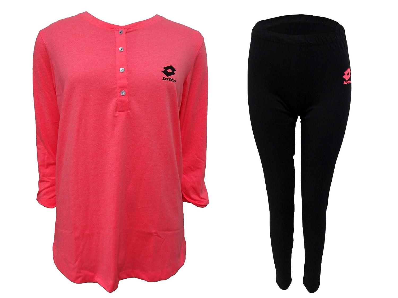 pigiama donna lungo con leggings caldo cotone LOTTO homewear nuova collezione art. LP2005