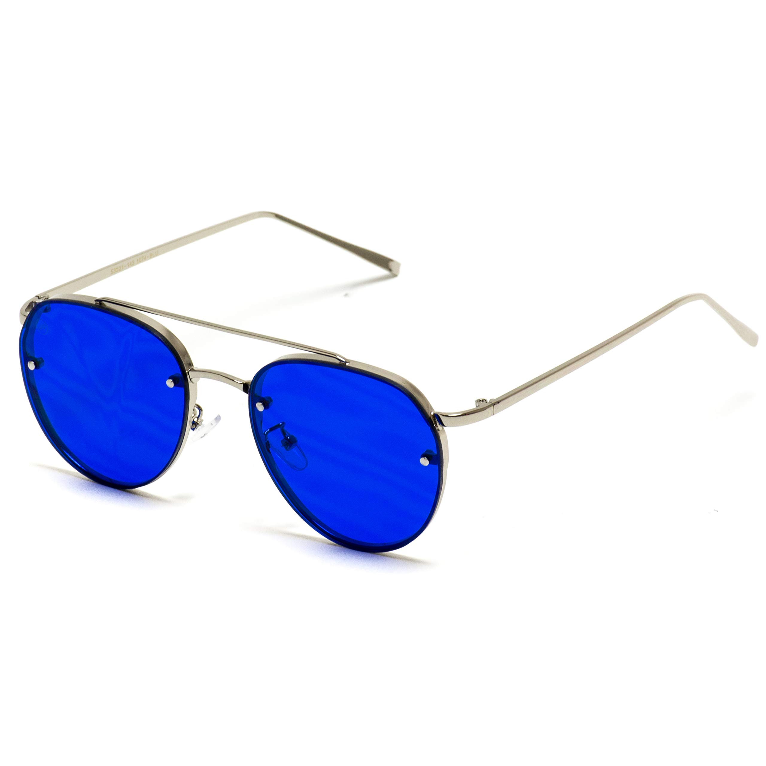 WearMe Pro - Colorful Tinted Lens Metal Frame Aviator Sunglasses by WearMe Pro
