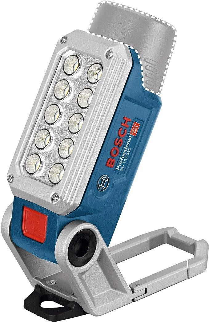 Bosch Professional GLI 12V-330 - Linterna a batería (12V, 330 lúmenes, sin batería, en caja)