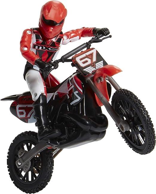 MXS Boys 4 n 1 Red Motorized Stunt Bike Set