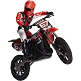 MXS Motocross Bike Toys Moto Extreme Sports, Bike & Rider with SFX Sounds by Jakks Pacific Action Figure Playsets - #67 Red &