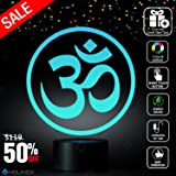 Om Symbol (OHM) (AUM) Lighting Decor RelaxingLamp + Sticker Decor for Perfect Set, Awesome Gift (MT031) By Holinox