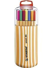 Stylo feutre pointe fine - STABILO Point 88 - Étui Zebrui 20 stylos-feutres - Coloris assortis