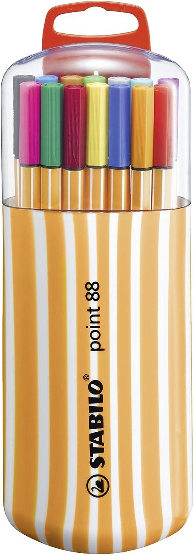 Rotulador punta fina STABILO point 88 Estuche premium Zebrui con 20 colores + STABILO BOSS Original PASTEL Marcador Estuche 6 colores: Amazon.es: Oficina y papelería