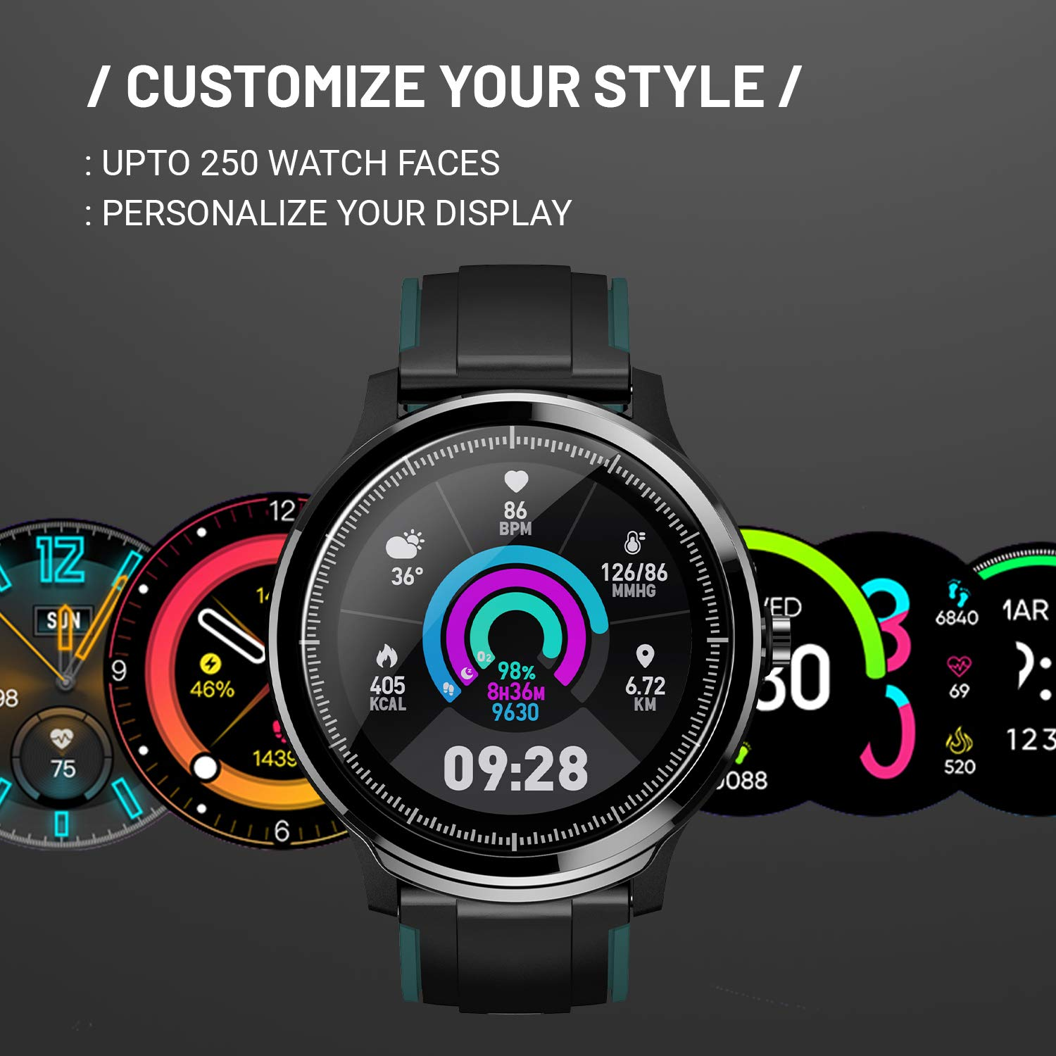 Highlights of CrossBeats Ace Smart Watch 2020 Full Touch