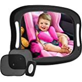 FITNATE LED Baby Car Mirror, Safety Infant in Backseat 360°Adjustable Light Up Mirror for Baby Rear with Best Newborn Secure