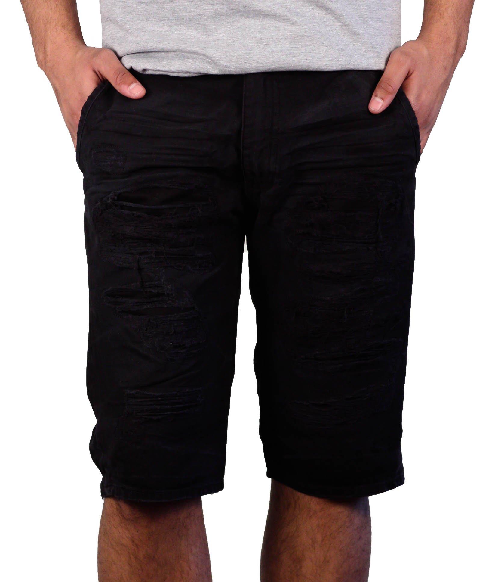 Jordan Craig Rip & Repair Casual Shorts (Black, 32) by Jordan Craig