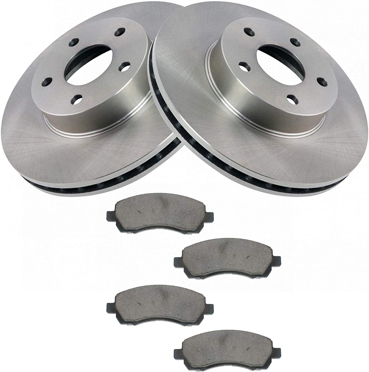 2000 2001 2002 For Subaru Impreza Rear Disc Brake Rotors and Ceramic Pads