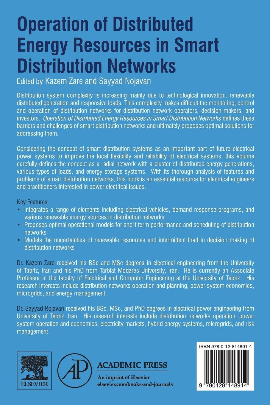 Buy Operation of Distributed Energy Resources in Smart Distribution ...