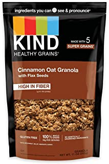 product image for KIND Healthy Grains Clusters, Cinnamon Oat with Flax Seeds, Gluten Free, 11 Ounce (Pack of 6)