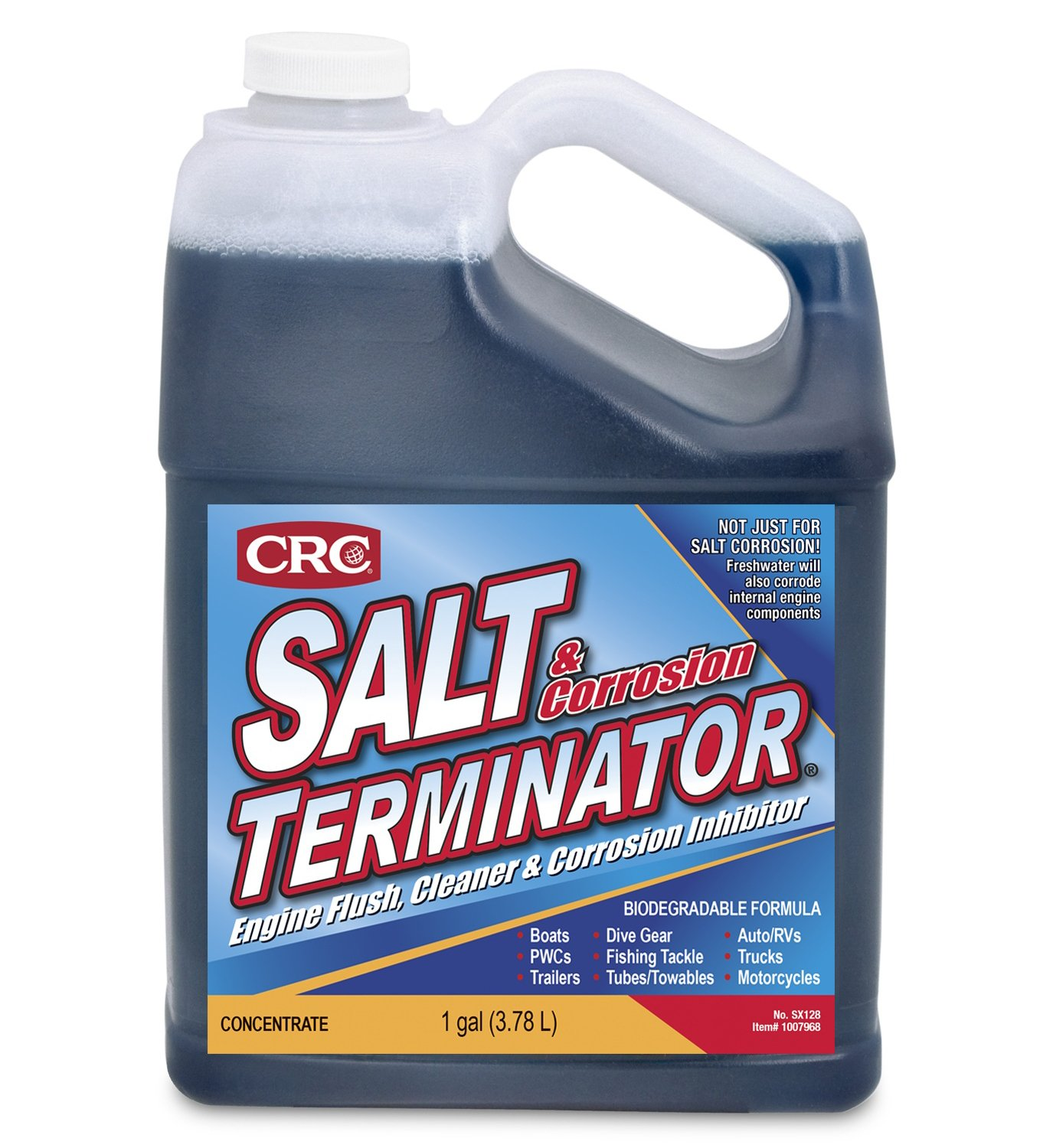 CRC SX128 Salt Terminator Engine Flush, Cleaner and Corrosion Inhibitor - 1 Gallon by CRC