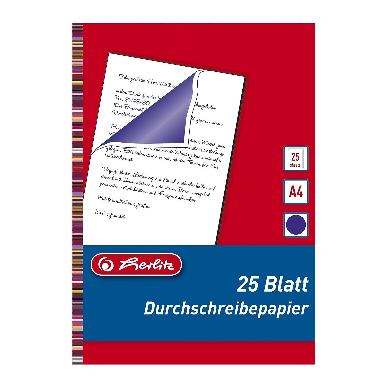 Herlitz 10303717 Durchschreibepapier für Handdurchschriften, A4, 25 ...