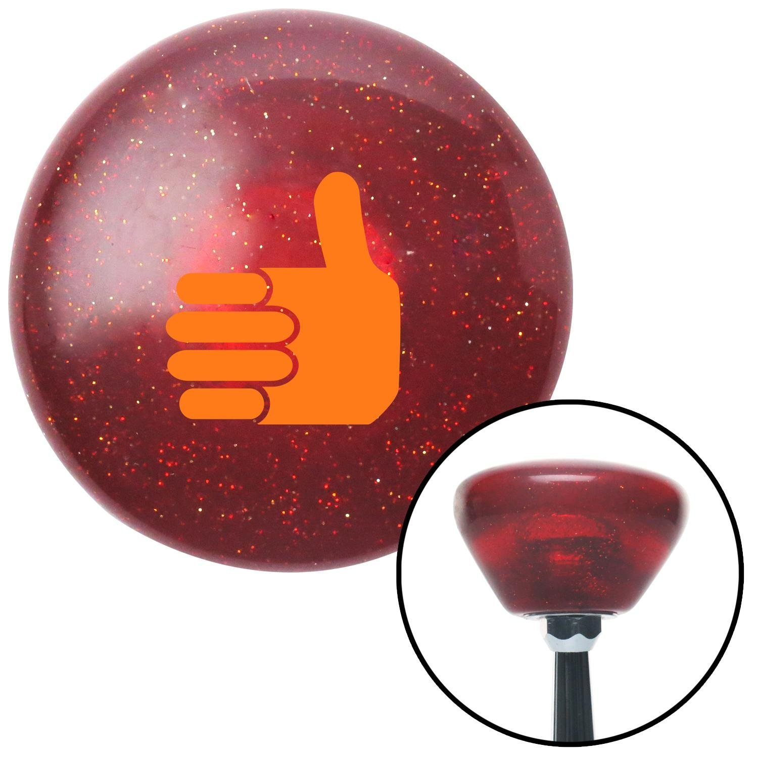 Orange Thumbs Up American Shifter 194306 Red Retro Metal Flake Shift Knob with M16 x 1.5 Insert