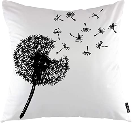 Amazon Com Ofloral Dandelion Throw Pillow Cover Closeup Flying Weeds Dandelion Botany Decorative Square Pillow Case 18 X18 Pillowcase Home Decor For Sofa Bedroom Home Kitchen