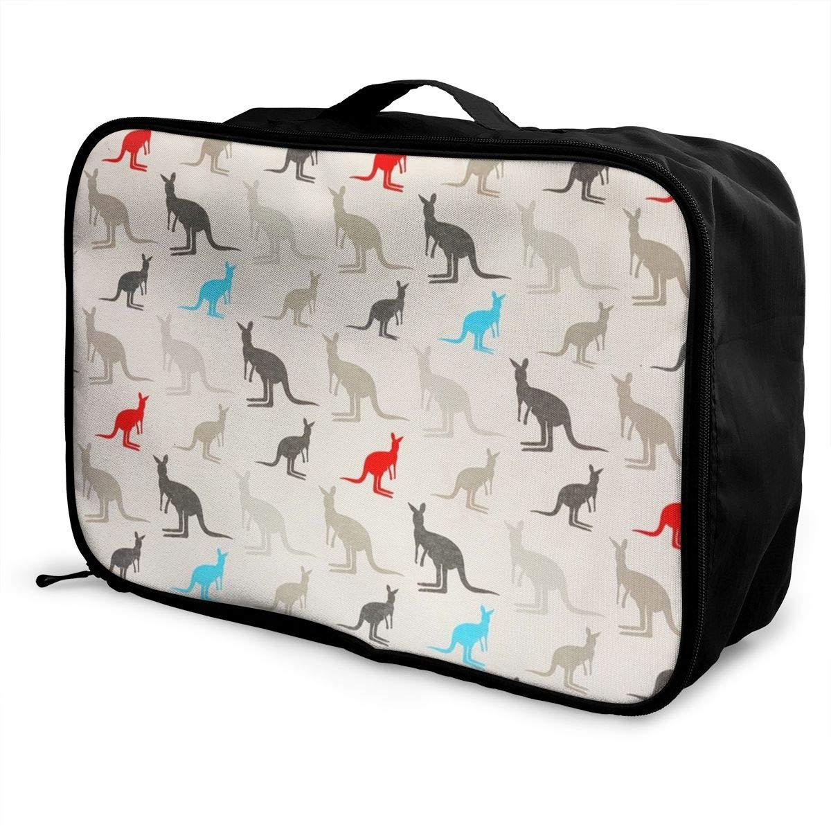 Australian Shepherd Dogs YINLAN Waterproof Foldable Duffel Fashion Casual Storage Tote Bag Lightweight Large Capacity Portable Luggage Bag for Women and Men