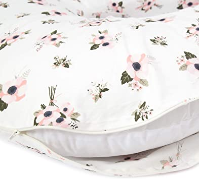 TILLYOU Large Zipper Personalized Pregnancy Pillowcase 100/% Egyptian Cotton Ful