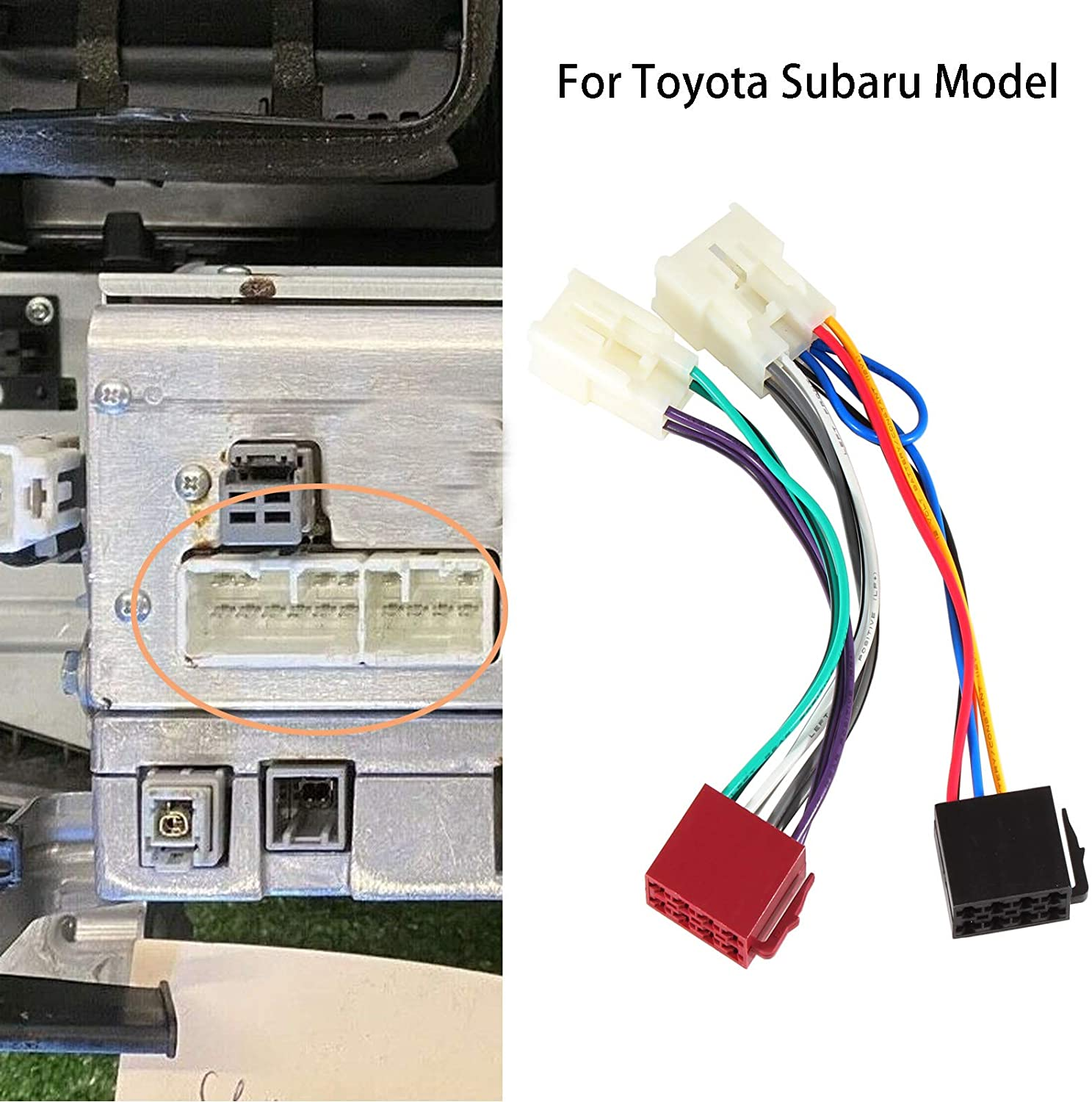 Subaru 2012-2019 WRX 2012-2019 Forester RED WOLF Aftermarket Radio Stereo Install ISO Wire Harness Connector Adapter Replacement for Toyota Tacoma 2005-2020 RAV4 1994-2020