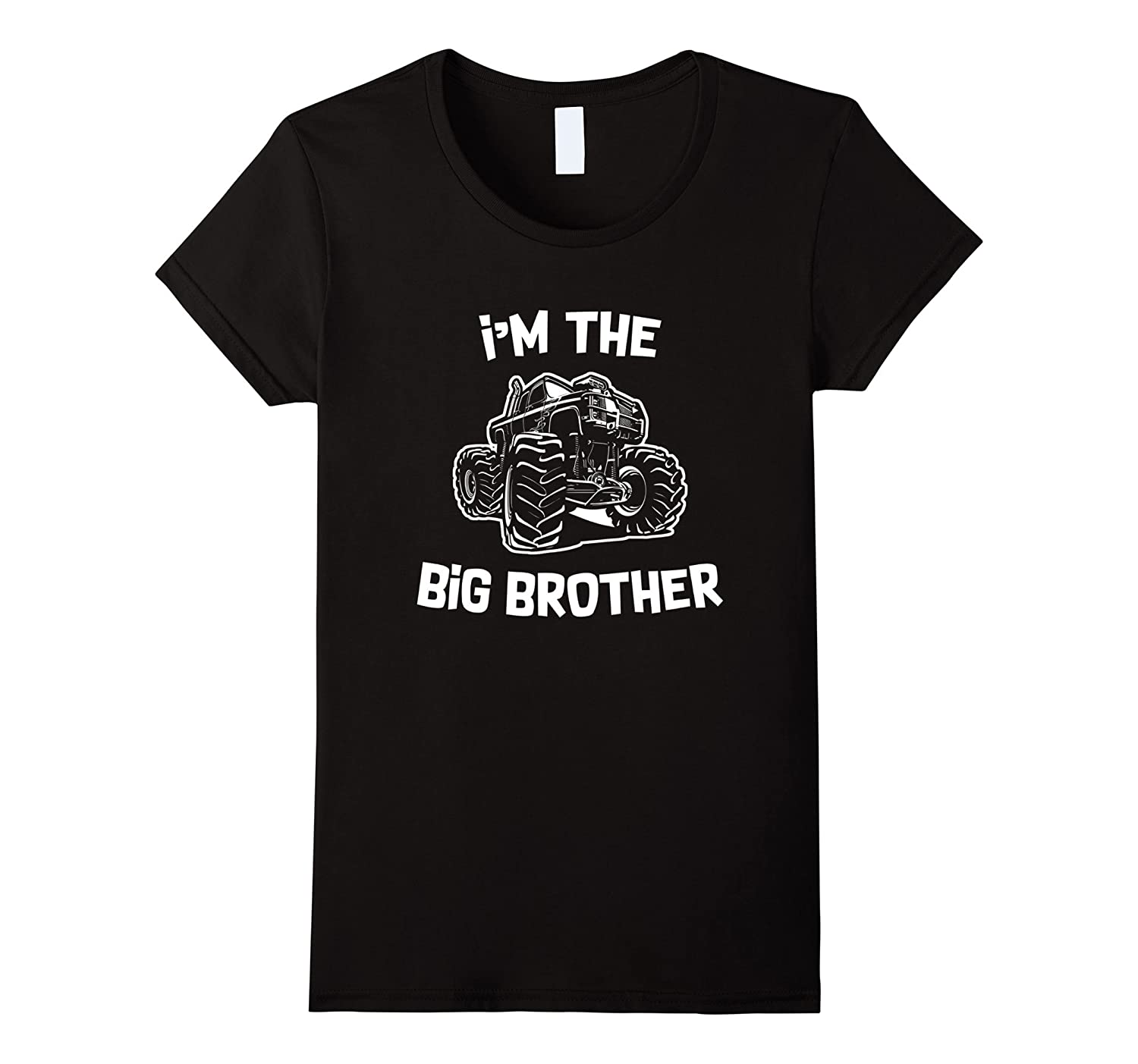 I'm The Big Brother Sibling Monster Truck T Shirt-Teevkd