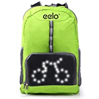 eelo Cyglo - The Ultimate Outdoor Cycle Backpack for Full Visibility and Awareness. Keeping the Rider Safe from Careless Drivers. Safety Back Pack with Rear LED Signal Display
