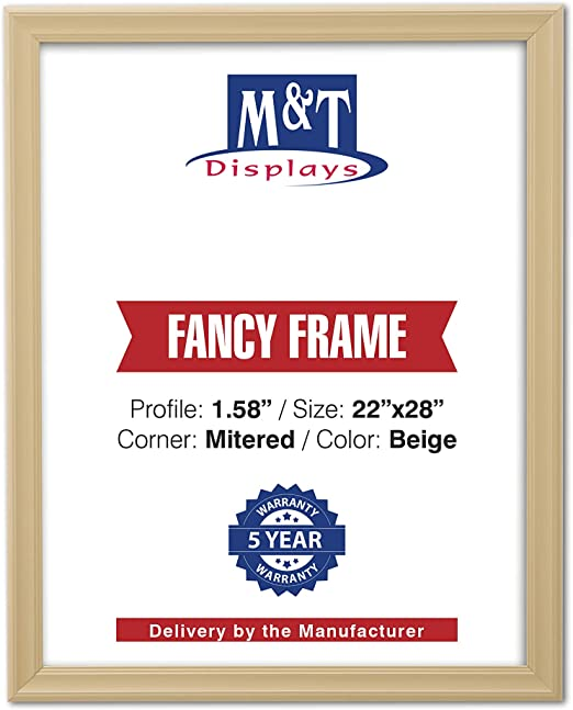 """Mitered Corner 36x48 Size 1.58/"""" Silver Fancy Front Loading Snap Picture Frame"""