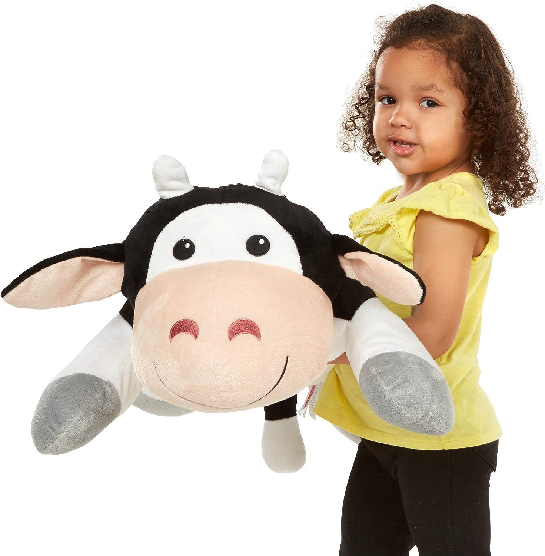 Melissa & Doug Cuddle Cow Jumbo Plush Stuffed Animal with Activity Card