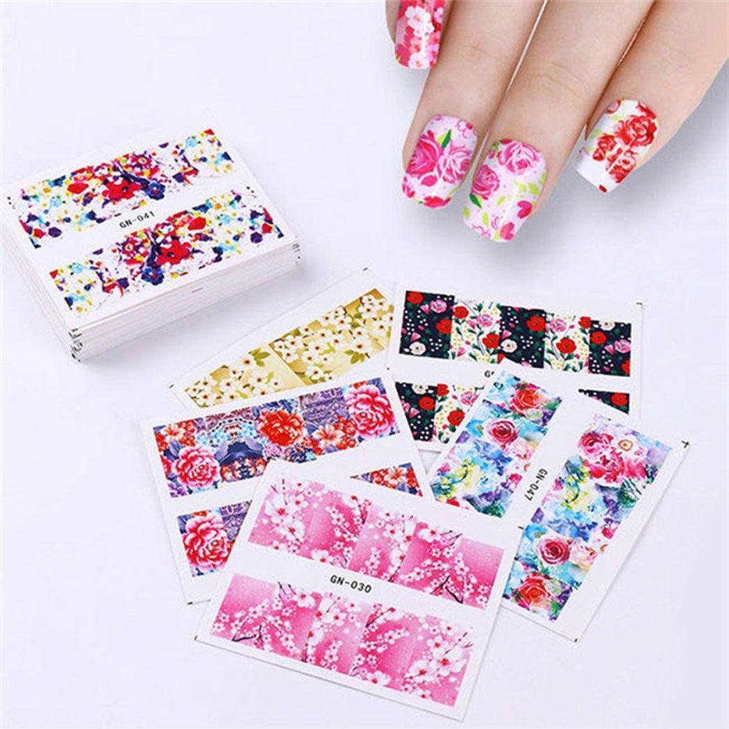 AIMADO 48PCS Women Girl Multi-Color Beauty Nail Decorating Tools Nail Sticker