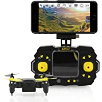Tenergy TDR Sky Beetle Quadcopter Drone with Camera Live Video Mini RC Drone 2.4GHz 6-Axis Gyro WiFi FPV Drone App Controlled Drone with Docking Transmitter Auto Hovering One-key Stunt Moves