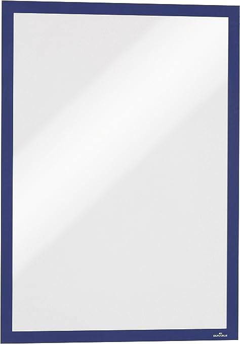 confezione da 5 pezzi rosso DURABLE 486903 Duraframe Magnetic cornice espositiva a fissaggio magnetico f.to A4