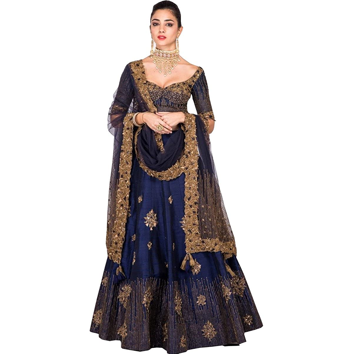 dc8462b01f Amit Fashions Indian Designer Lehangha Choli For Women Women Dresses