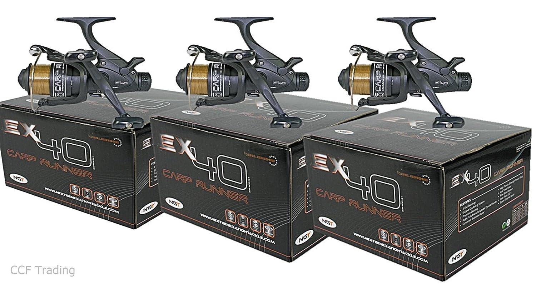 GnT NGT 3 x釣りランナーReelsツインハンドルPreロード10lbラインex40   B014WJ5JO6
