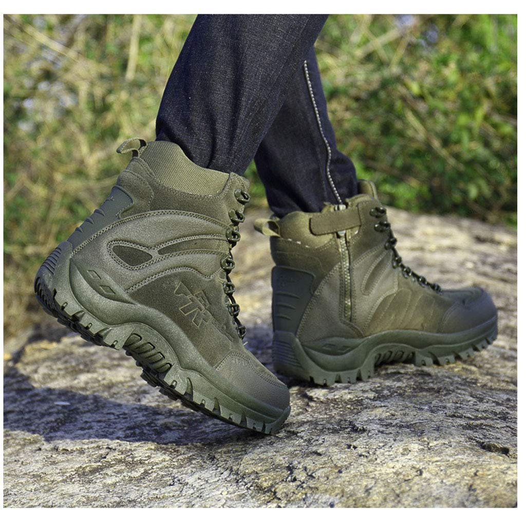 Schluckenw Combate de los Hombres Botas de monta/ña Militar Patrulla Trekking t/áctico Botas de Trabajo de Utilidad Calzado Ej/ército Polic/ía Zapatos para Caminar Escalada Top Zapatos