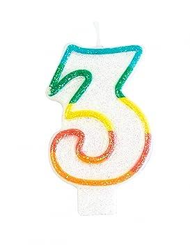 Generique - Vela de cumpleaños cifra 3: Amazon.es: Juguetes ...