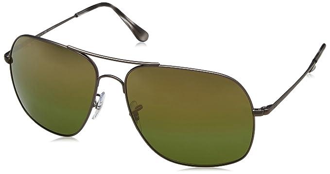f347a40cfa1 RAYBAN Men s 0RB3587CH 029 6O 61 Sunglasses Matte  Gunmetal Greenmirgoldgradientpolar