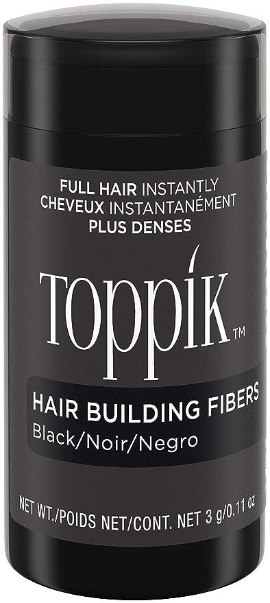 Toppik Fibras Capilares, Color Negro - 3 gr