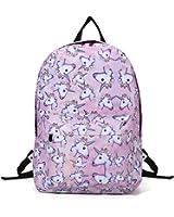Sac à dos Licorne, Tezoo Imperméable Super léger 35L Sports Voyage Backpack Design Kawaii pour École Enfant Fille Garçon Rentrée scolaire - Rose Bleu